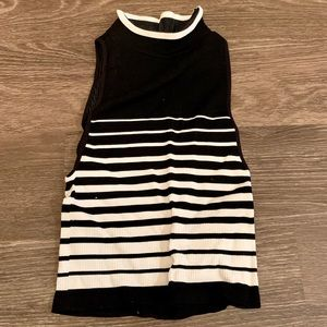 Free People Black & White Striped Top